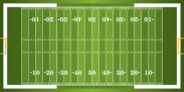 Textured Grass American Football Field A vector grass textured American football field. EPS 10. File contains transparencies.  ncaa college football stock illustrations