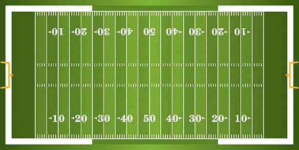 Con textura de hierba campo de fútbol americano - ilustración de arte vectorial