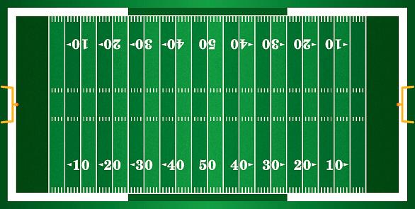 Textured Grass American Football Field