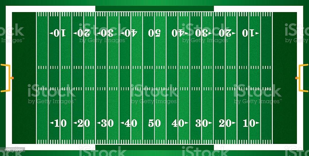Textured Grass American Football Field vector art illustration