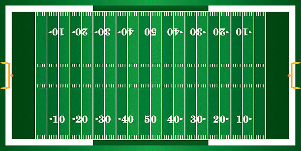 Textured Grass American Football Field A grass textured American football field. EPS 10. File contains transparencies. ncaa college football stock illustrations