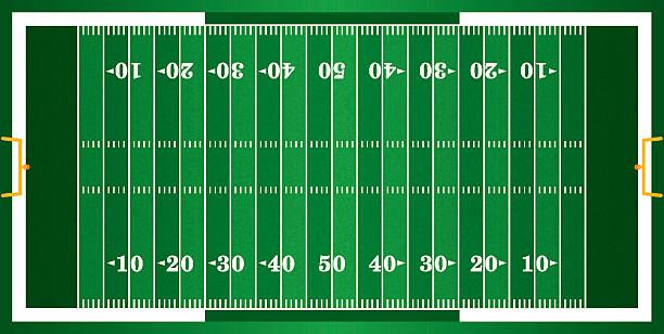 ilustrações de stock, clip art, desenhos animados e ícones de texturizado grama-campo de futebol americano - primeiro down futebol americano