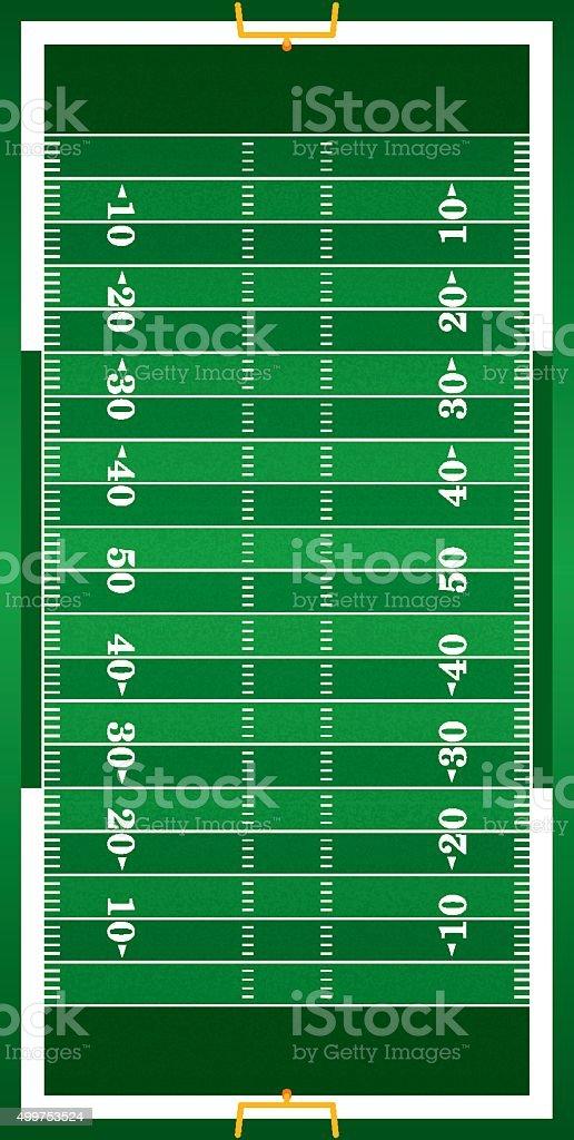 Textured Grass Vertical American Football Field vector art illustration