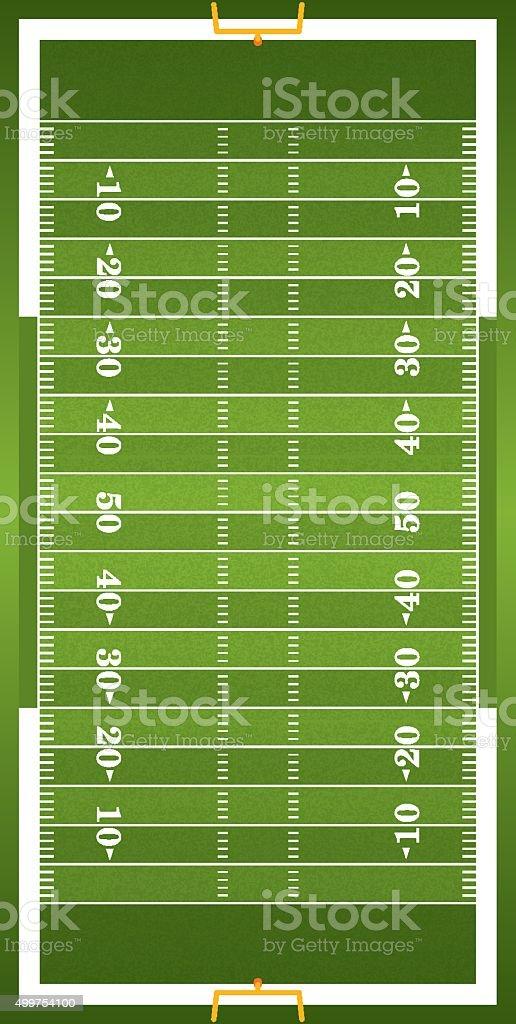 Football on field vertical