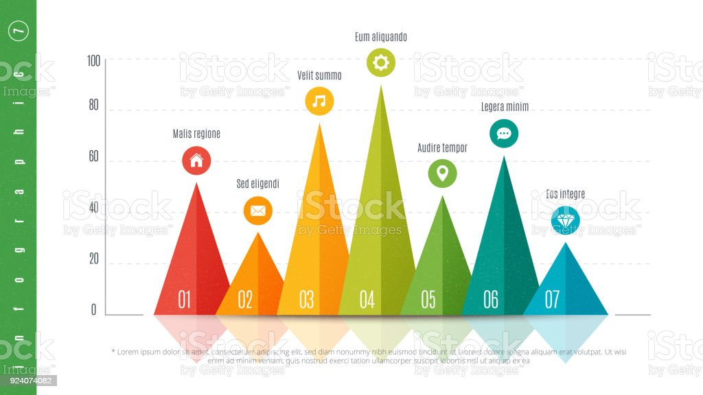 textured infographic bar chart template with 4 options vector design