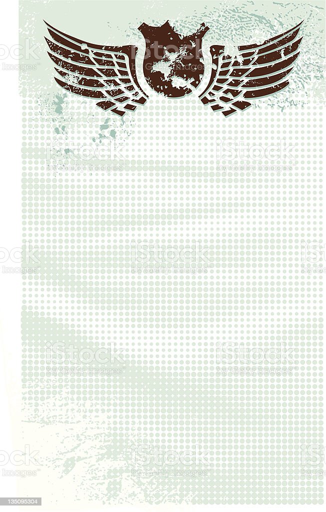 Textured letterhead royalty-free stock vector art