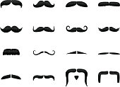 Vector mustache icons, zoom in for texture and details. Includes an EPS 8, 300dpi Jpg, transparent PNG, and basic versionshttp://www.logorilla.com.au/istock/mustache.jpg