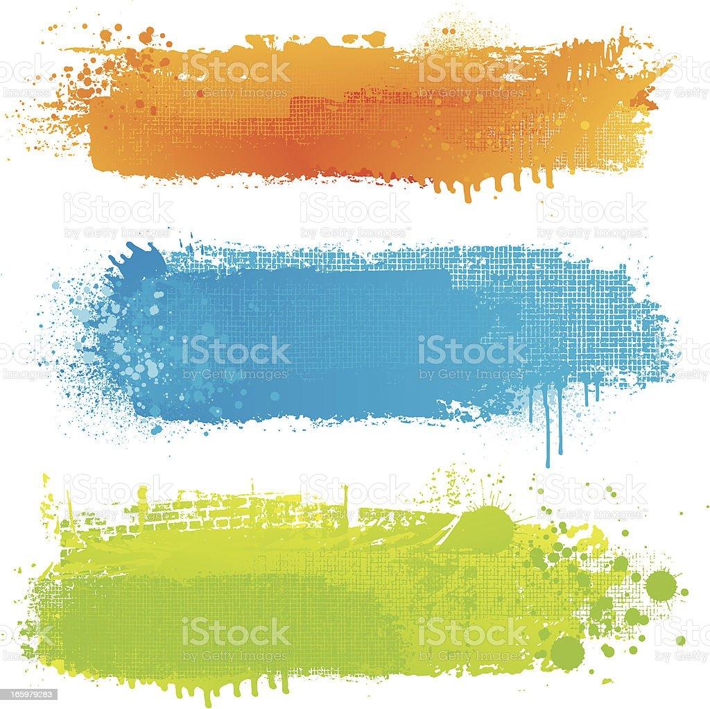 Fondos de pintura de textura strip - ilustración de arte vectorial