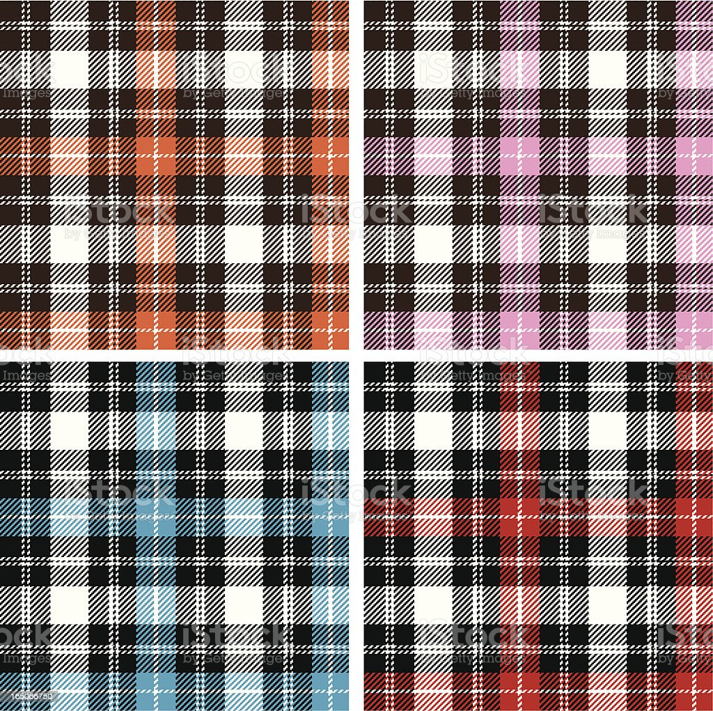 Textured plaid royalty-free stock vector art