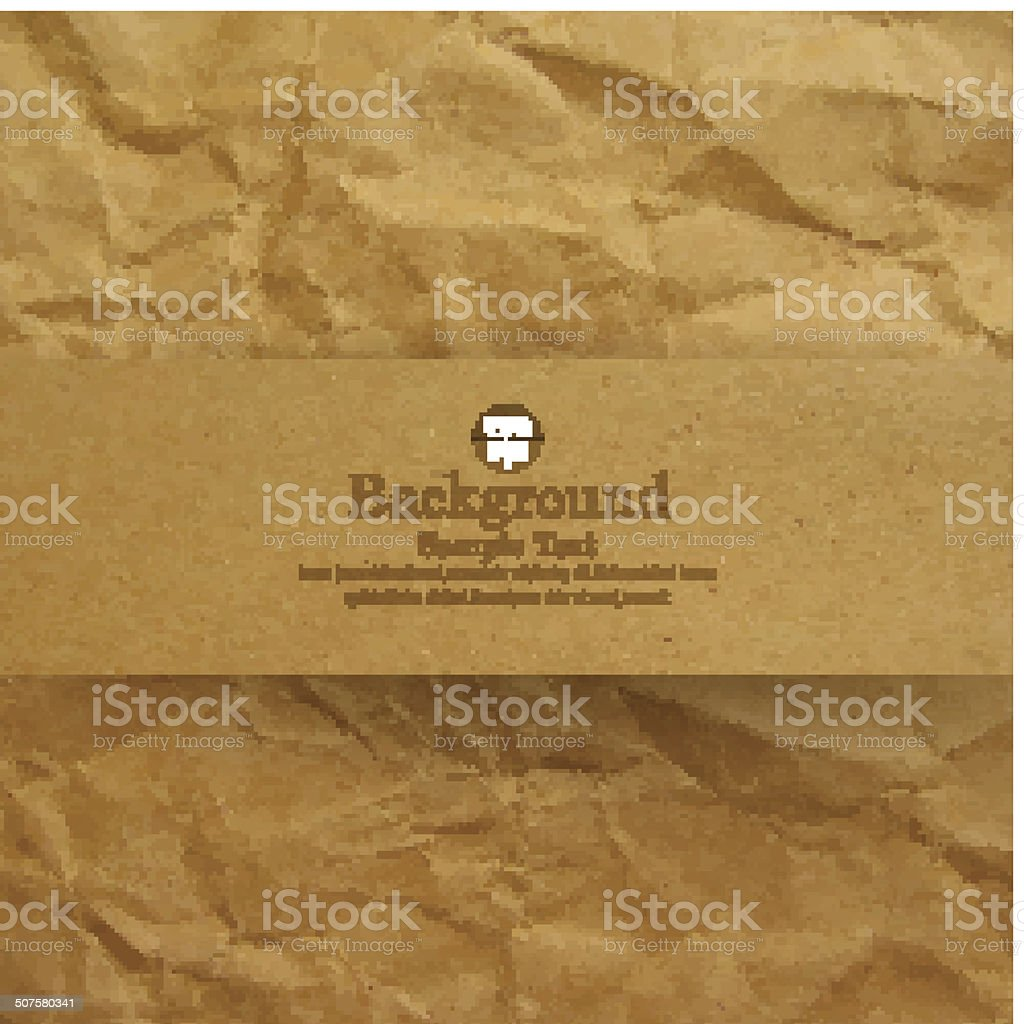 Textured recycled brown paper background. vector art illustration