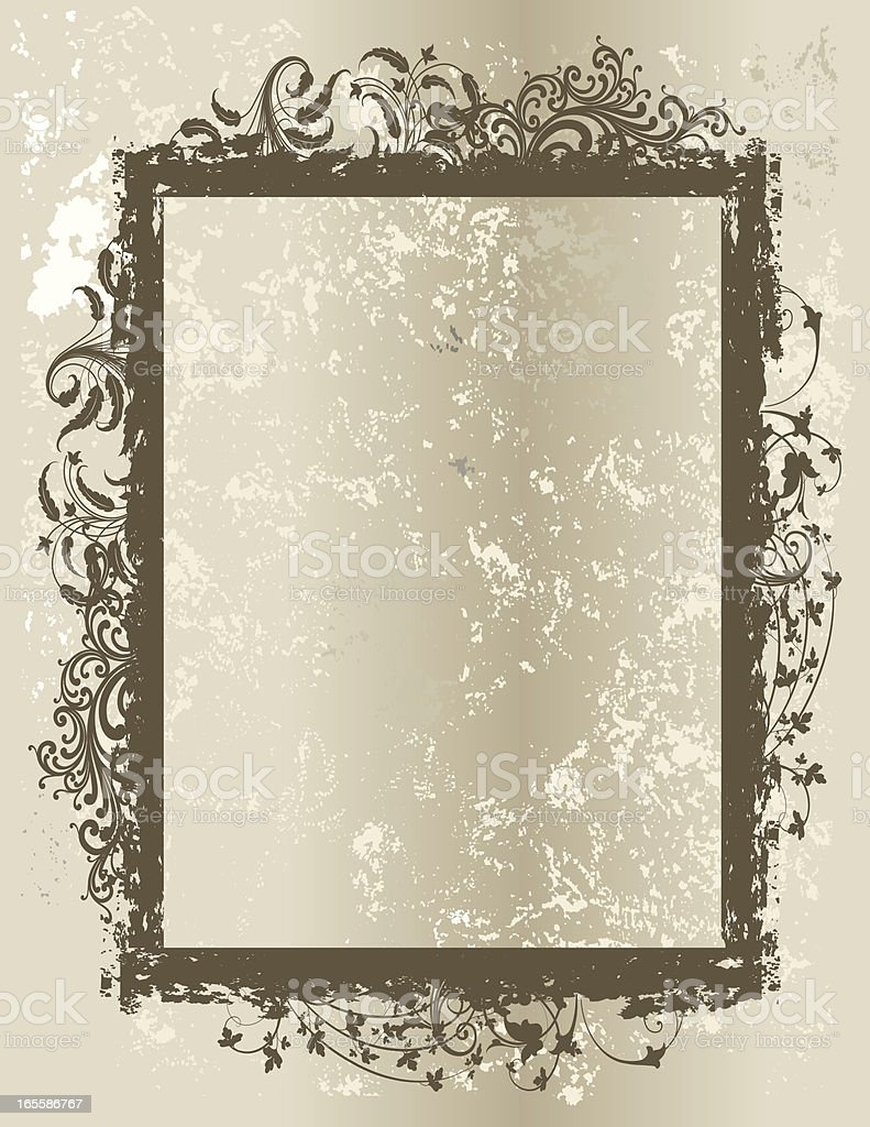 Textured Scroll Frame royalty-free stock vector art