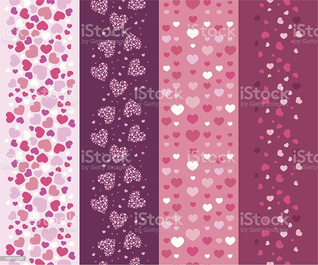 Textured Seamless Vertical Patterns Set royalty-free textured seamless vertical patterns set stock vector art & more images of abstract