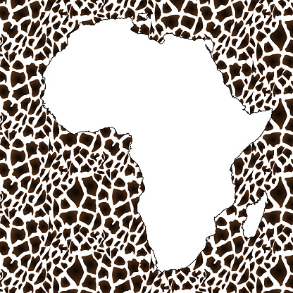 Textured vector map of Africa.
