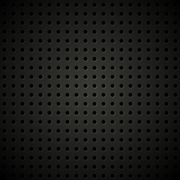 textured vector perforated leather background - lederverarbeitung stock-grafiken, -clipart, -cartoons und -symbole