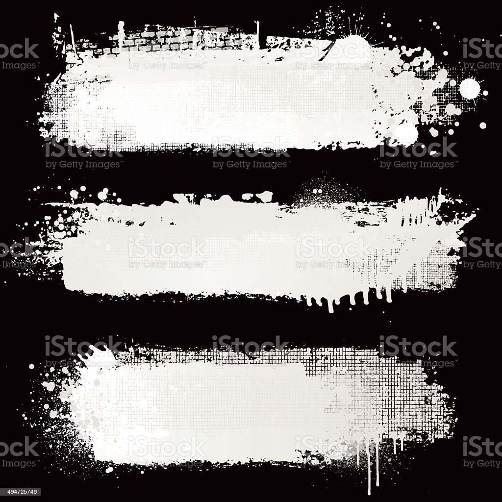 Textured white paint backgrounds vector art illustration