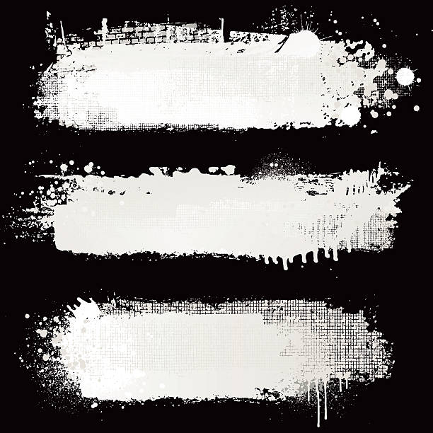 textured white paint backgrounds - graffiti backgrounds stock illustrations, clip art, cartoons, & icons