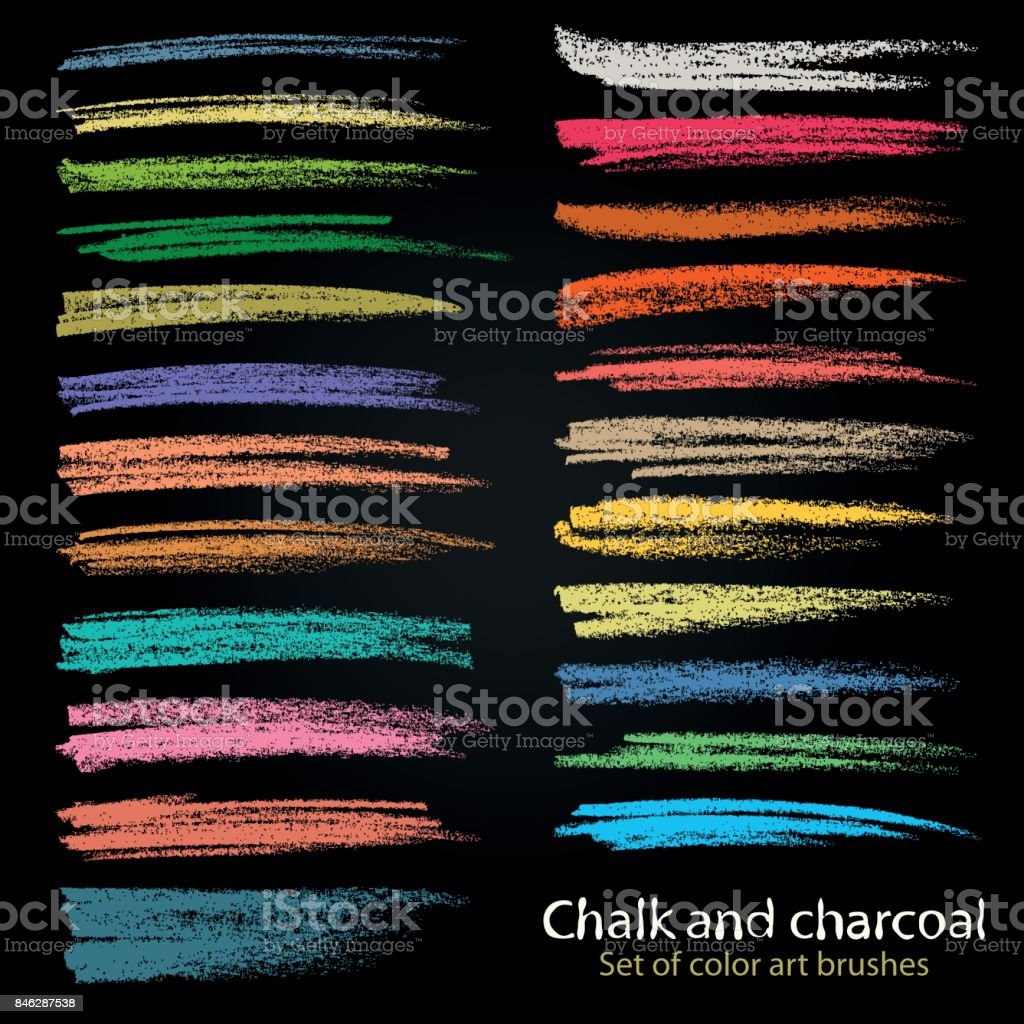 Textures of chalk and coal. Vector brush strokes. Soft pastel colors. Grunge pattern. vector art illustration