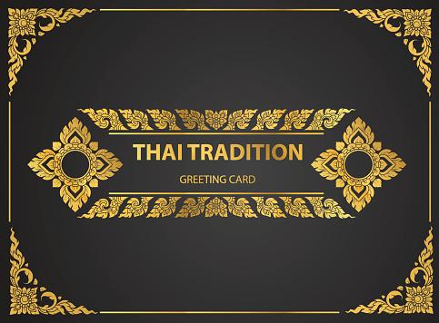 태국 예술 요소 인사말 카드도 서 Covervector에 대 한 전통적인 디자인 골드 0명에 대한 스톡 벡터 아트 및 기타 이미지