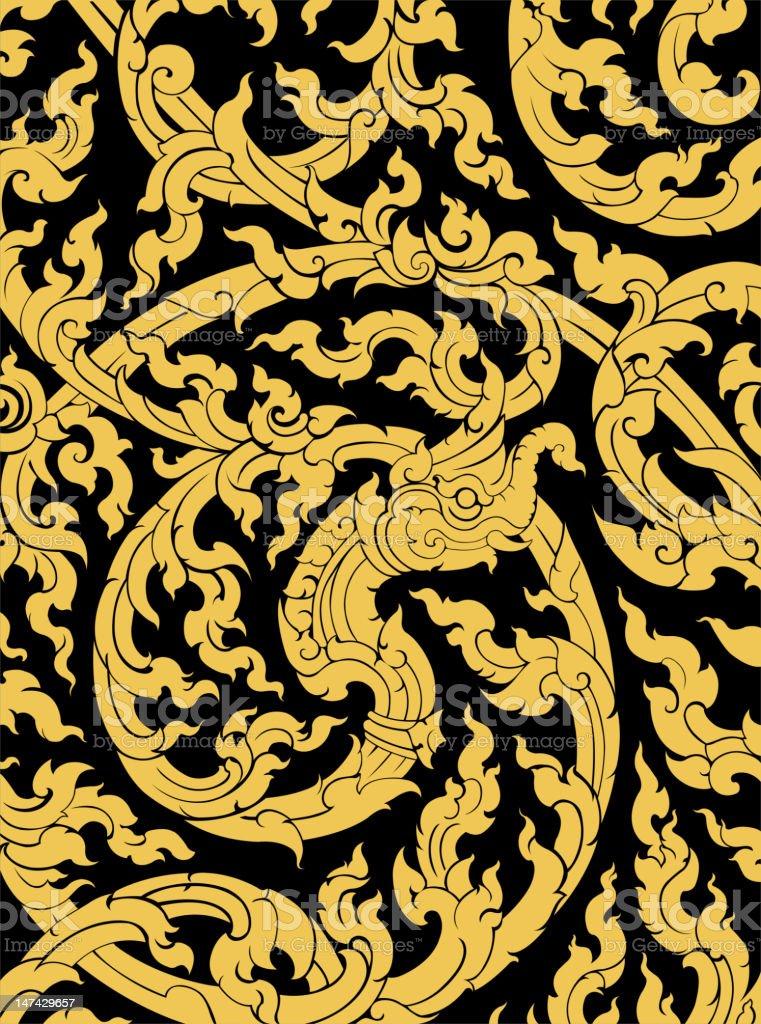 Thai art pattern royalty-free stock vector art