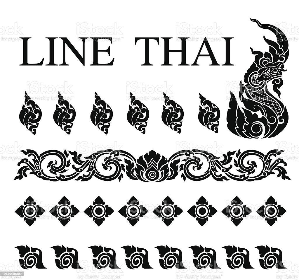 thai art pattern vector vector art illustration