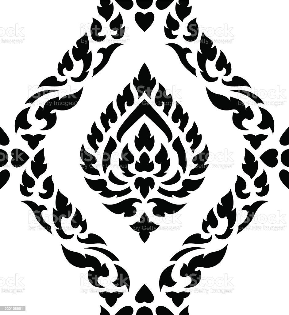 thai art seamless pattern vector art illustration