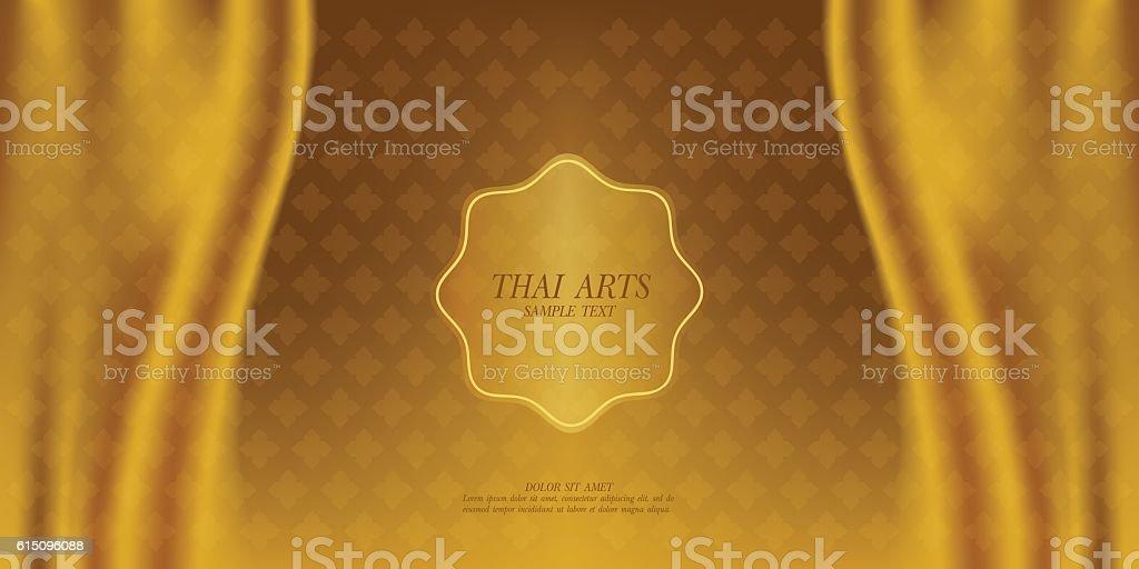 Thai Art vector background. - 로열티 프리 가리기 벡터 아트