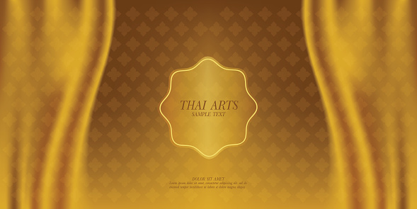 Thai Art Vector Background 가리기에 대한 스톡 벡터 아트 및 기타 이미지