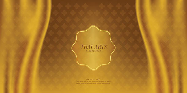 thai art vector background. - 태국 문화 stock illustrations