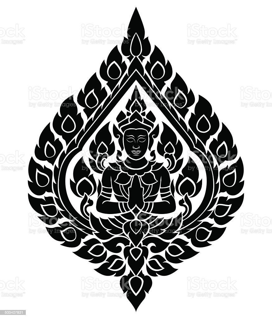 Thai arts angel, vector pattern vector art illustration