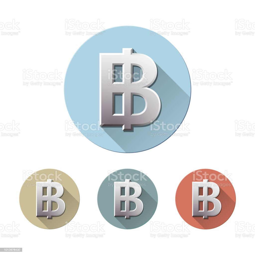 Thai Baht Currency Symbol Stock Vector Art More Images Of Bank