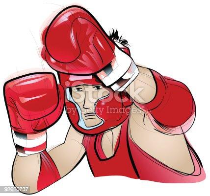 istock Thai Boxing competitor 92620737