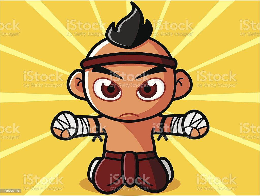 Thai Boxing royalty-free stock vector art