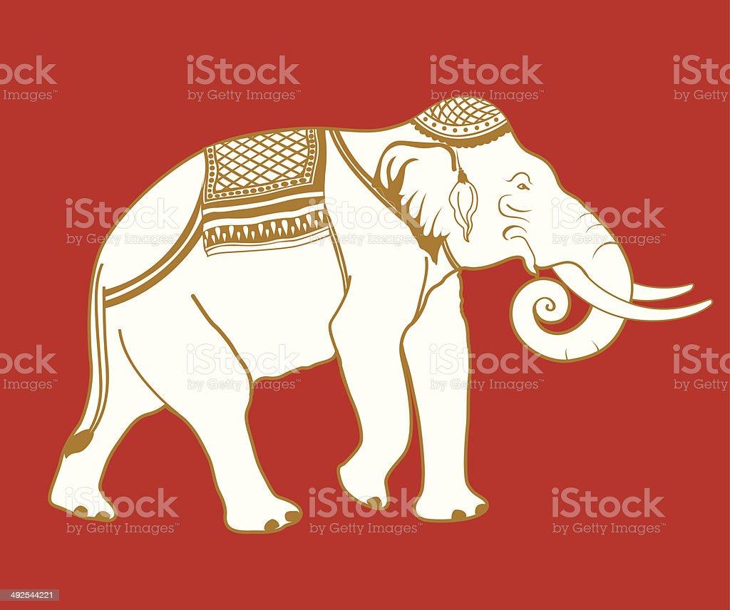 Thai Elephant vector art illustration