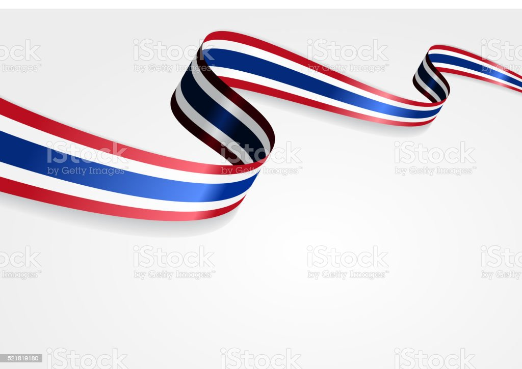 タイ旗のバックグラウンド。ベクトルイラスト ベクターアートイラスト