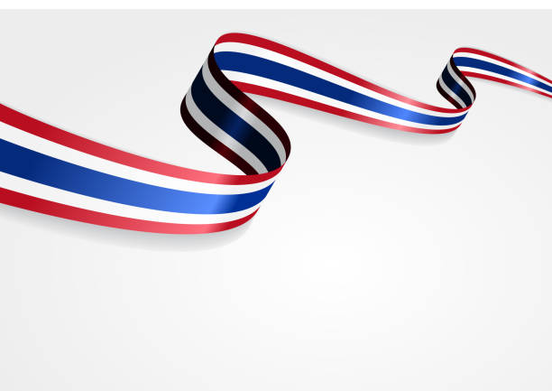 thai flag background. vector illustration - thai flag stock illustrations, clip art, cartoons, & icons
