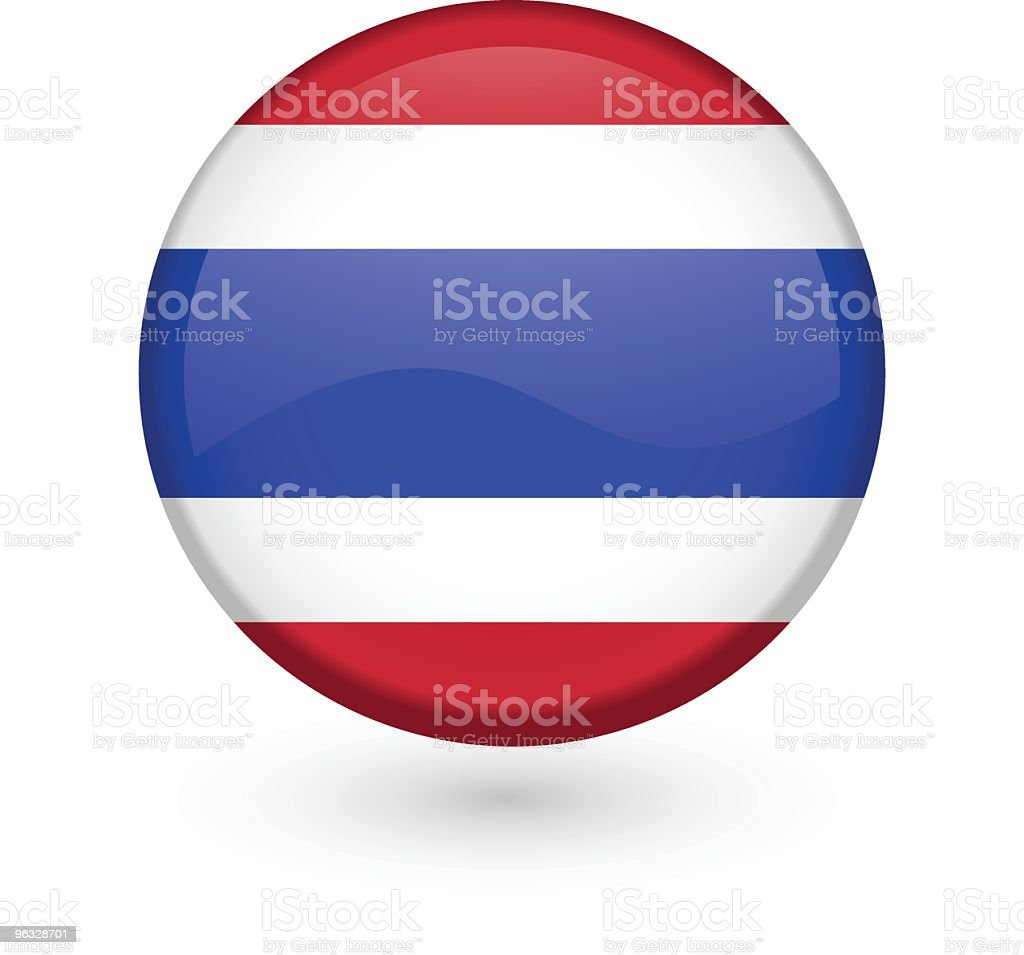 タイのフラグ-ベクトル-ボタン ベクターアートイラスト