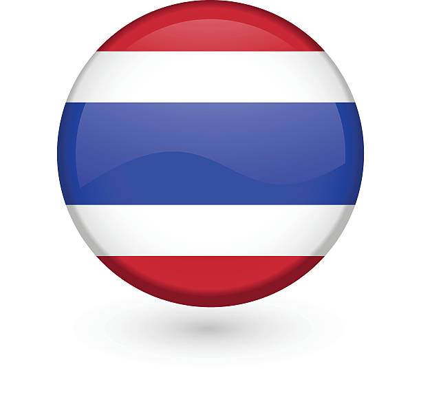 thai flag vector button - thai flag stock illustrations, clip art, cartoons, & icons