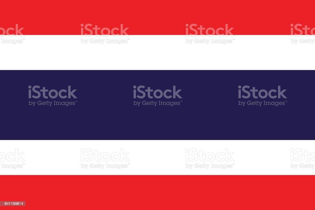タイの国旗 (公式の色と形状) ベクターアートイラスト