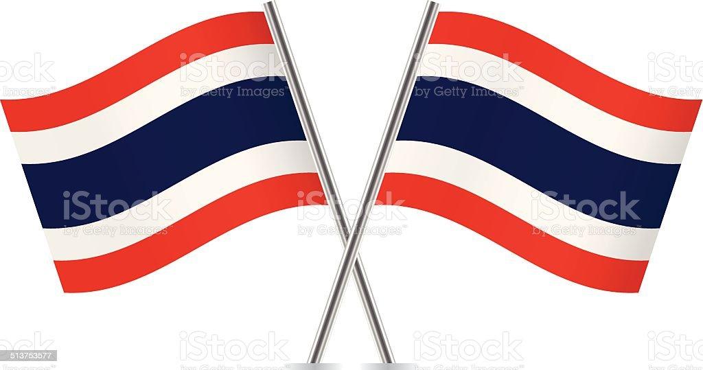 タイ旗。 ベクトルます。 ベクターアートイラスト