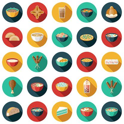Thai Food Icon Set
