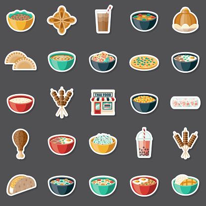 Thai Food Sticker Set