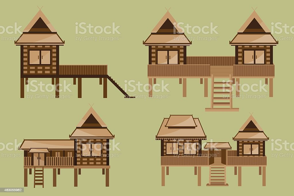 Thai House Design Stock Vector Art & More Images of 2015