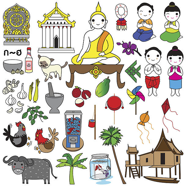 Best Kitchen Illustrations Royalty Free Vector Graphics: Best Thai Greeting Illustrations, Royalty-Free Vector