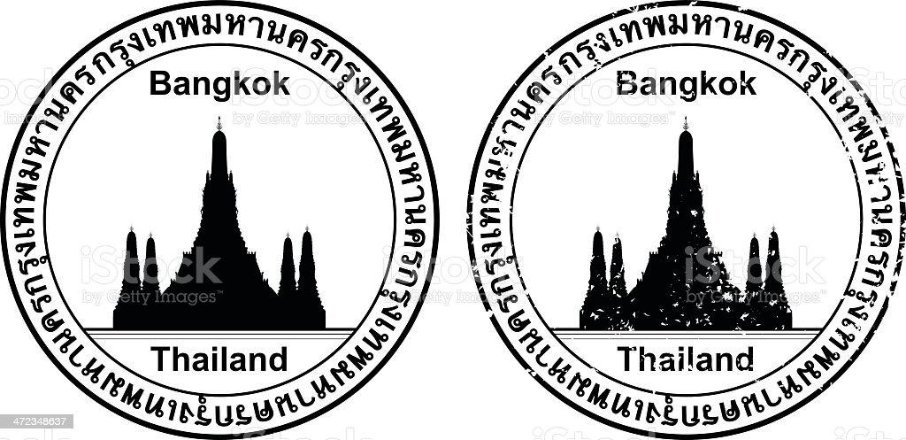 Thai Passport Stamp royalty-free stock vector art