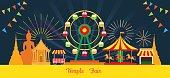 Thai Temple Fair, Night Scene