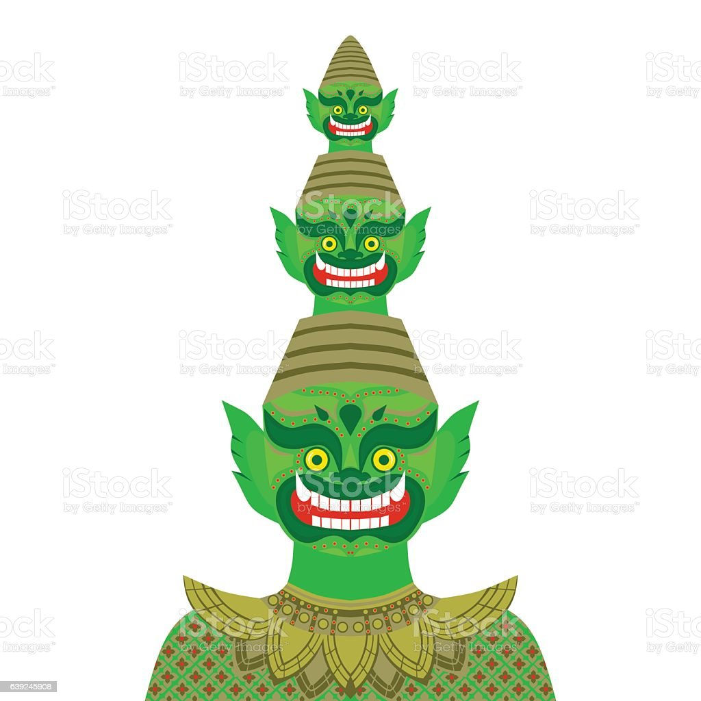 Thai temple guardian giant buddhism symbol in bangkok stock vector thai temple guardian giant buddhism symbol in bangkok royalty free thai temple guardian biocorpaavc