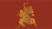 istock Thai traditional painting in temple, vHanuman vector 1198941914