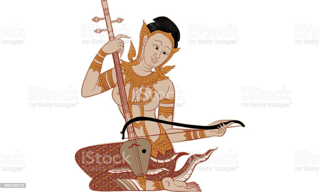 thai traditional tattoo, Thai traditional painting vector art illustration