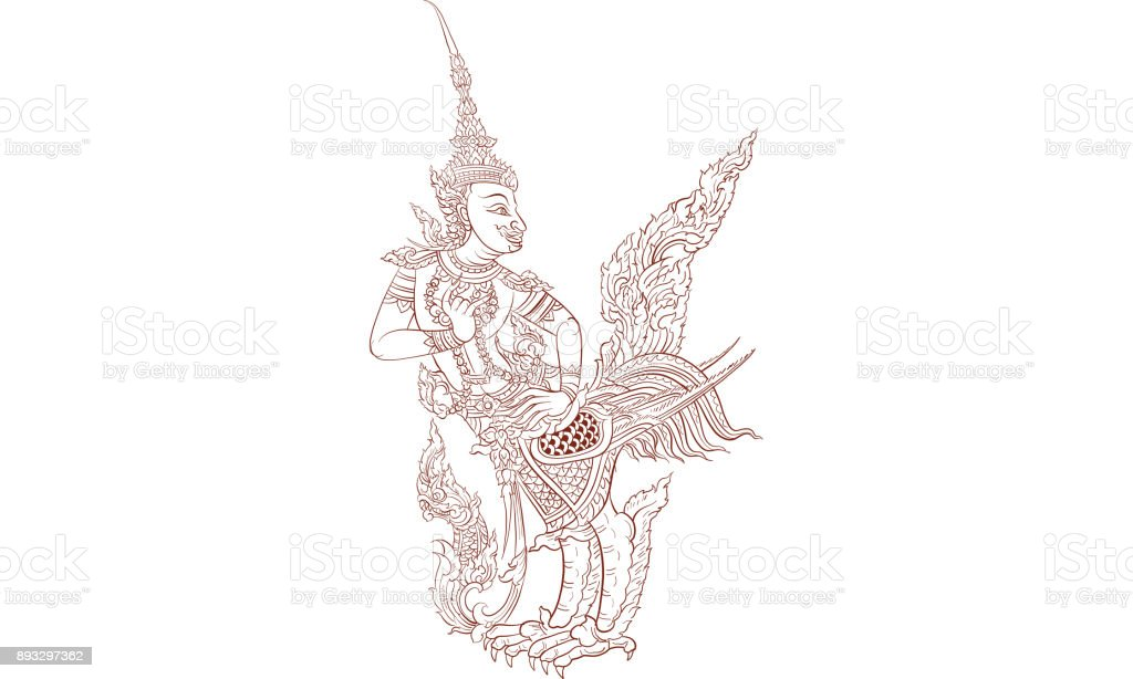 8dd8eb885 thai traditional tattoo, thai traditional painting vector royalty-free  stock vector art