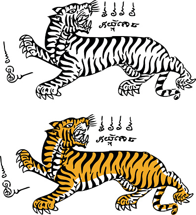 thai traditional tattoo tiger